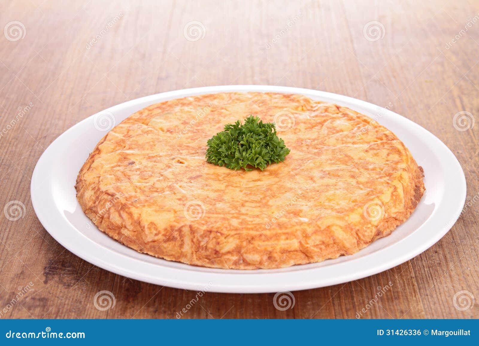 Tortilla avec la pomme de terre