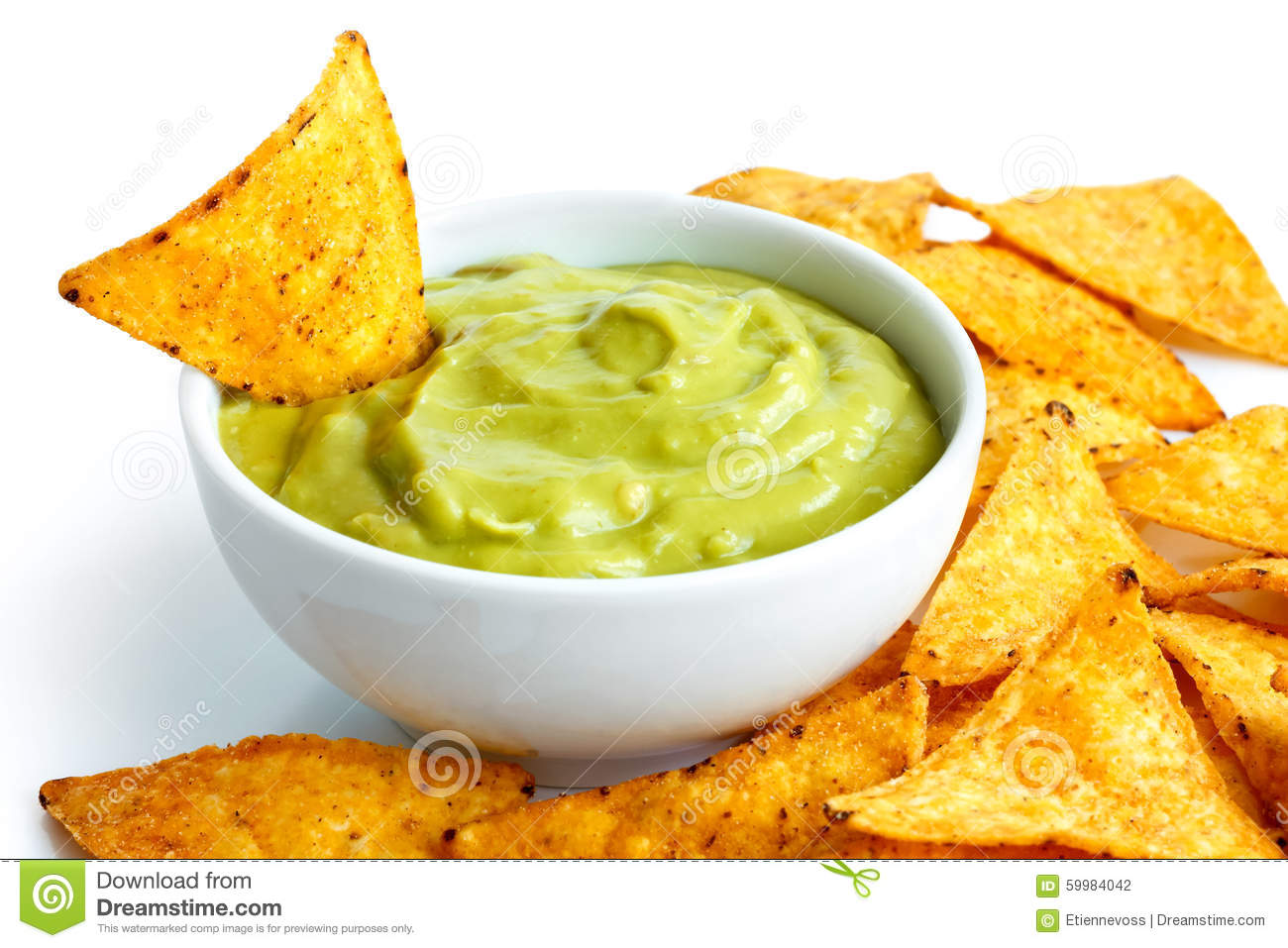 Tortilla chips and dips. stock photo. Image of chips ...