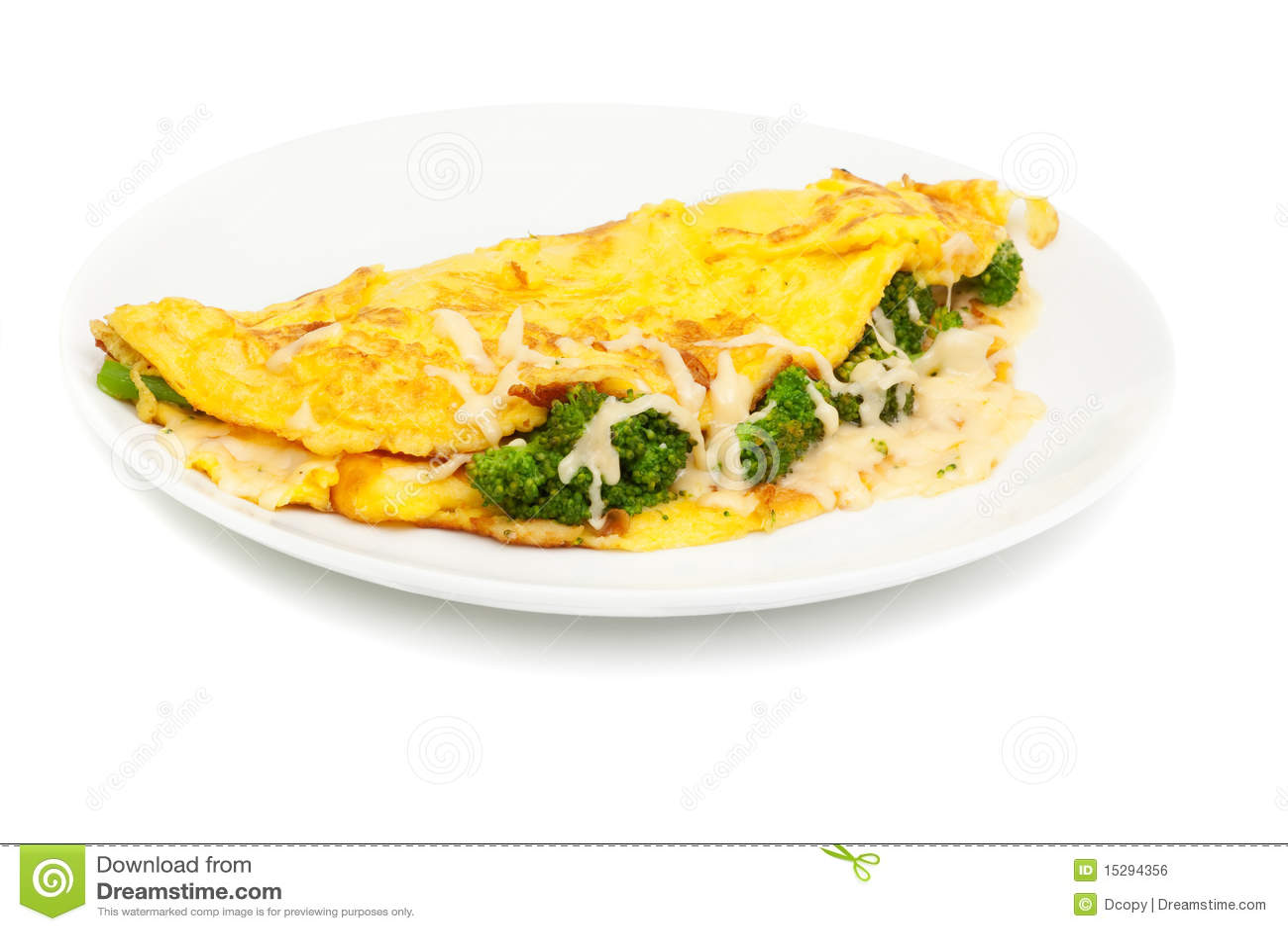 Tortilla de huevos con queso y bróculi