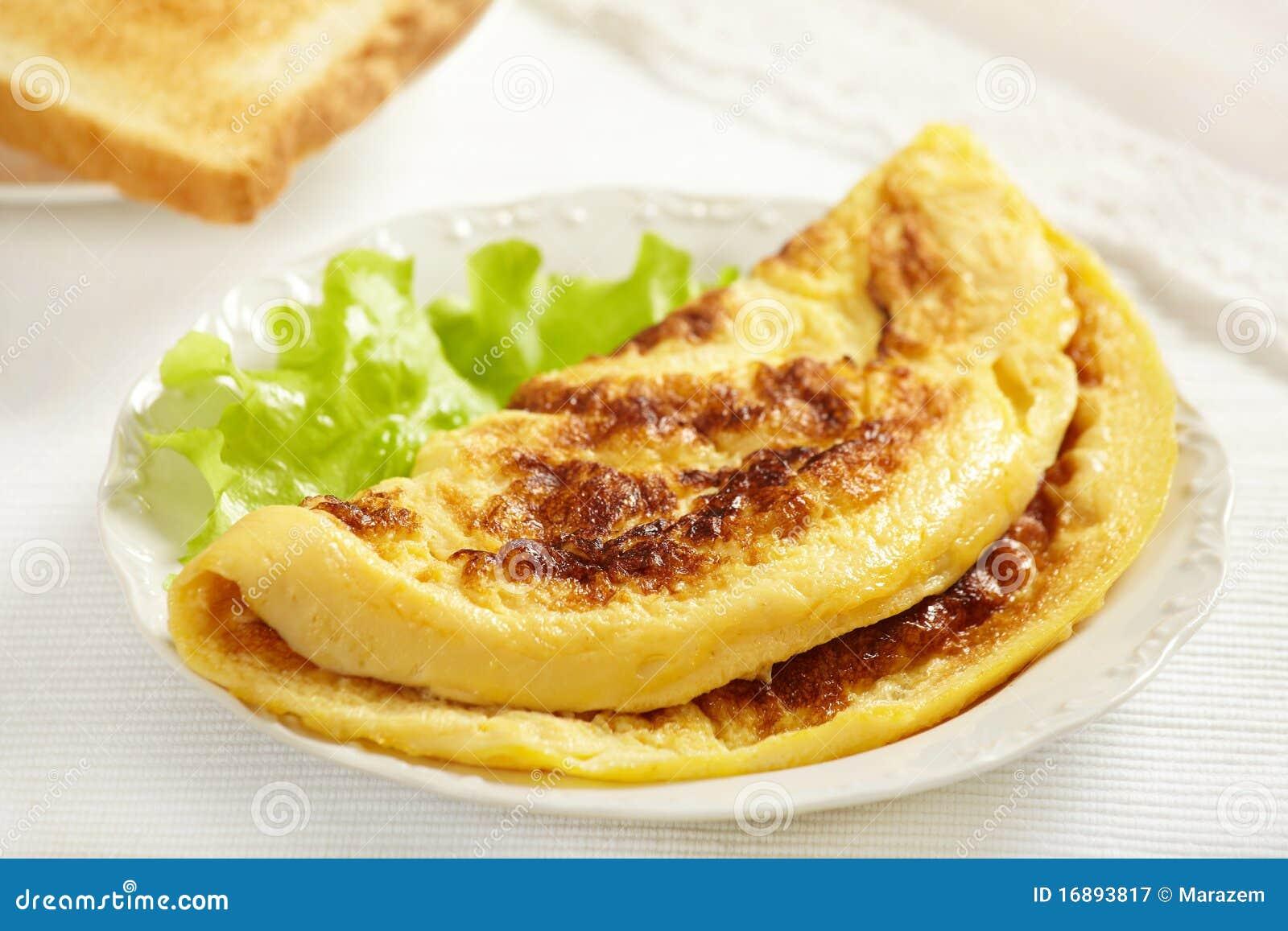 Tortilla de huevos sabrosa fresca