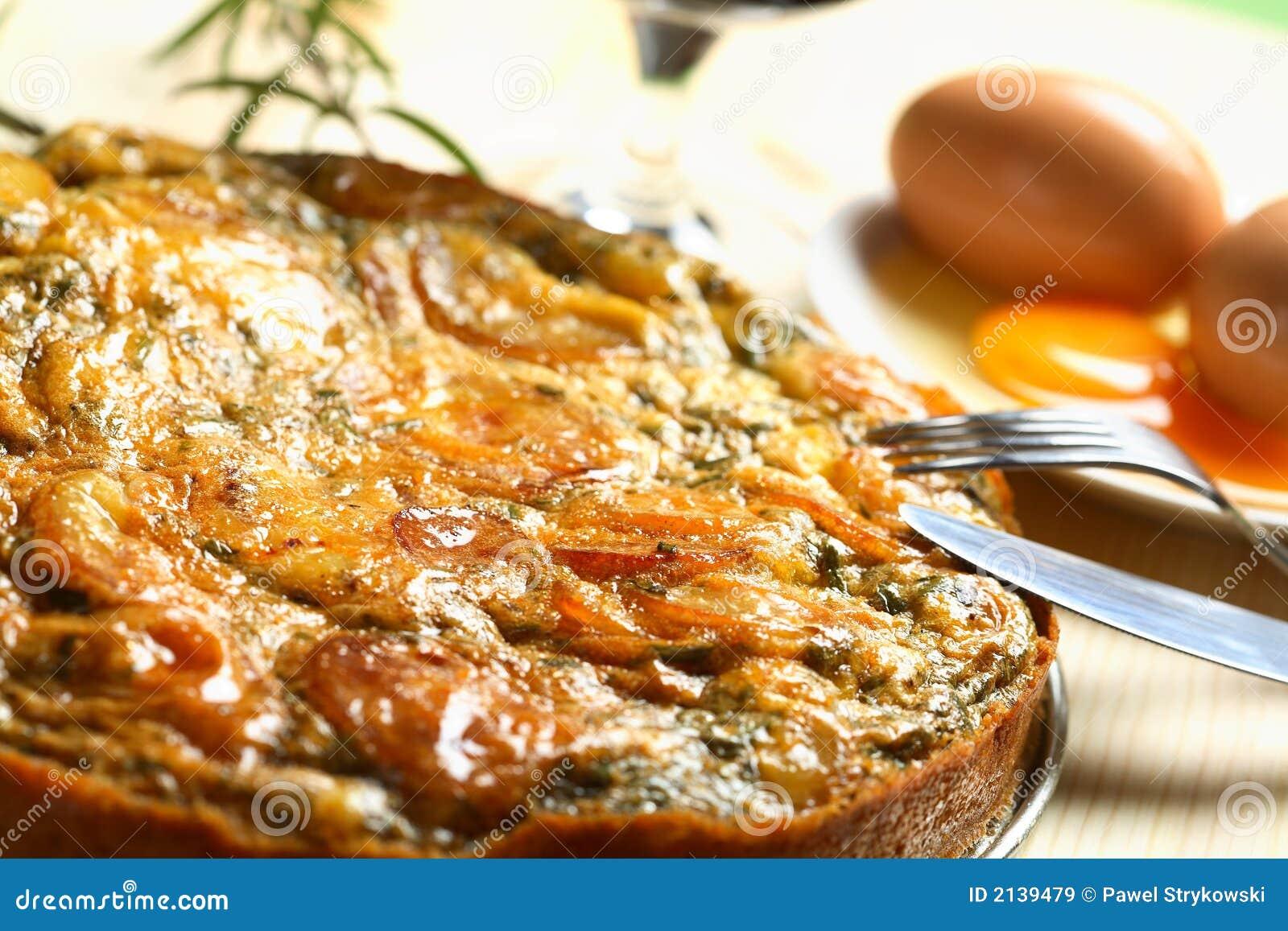 Tortilla effectuée à partir des pommes de terre