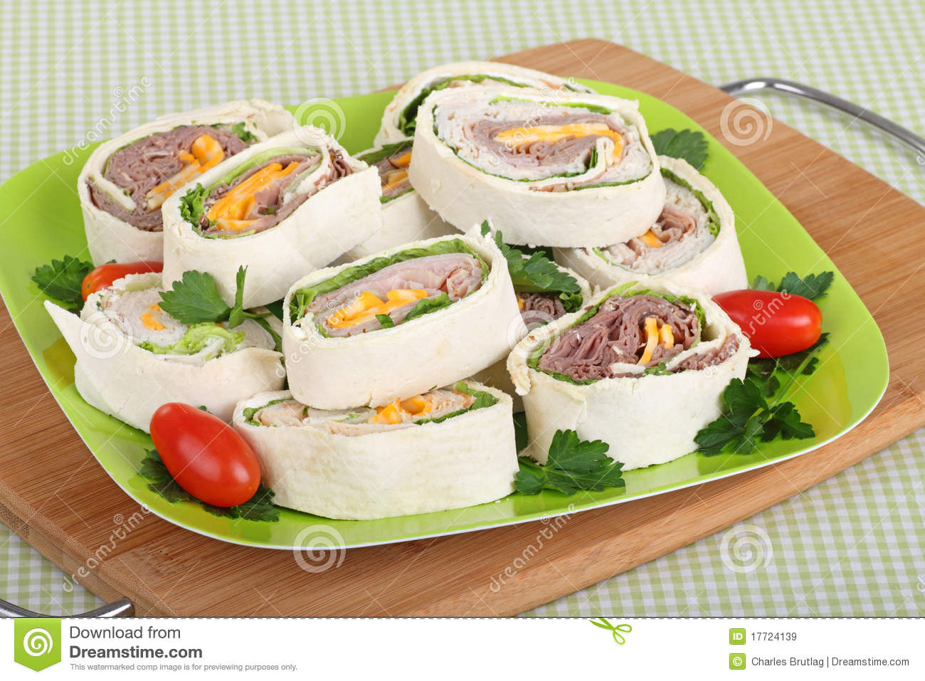 Vegetable And Meat Wraps With Sweet Chilli Sauce Stock Photo ...
