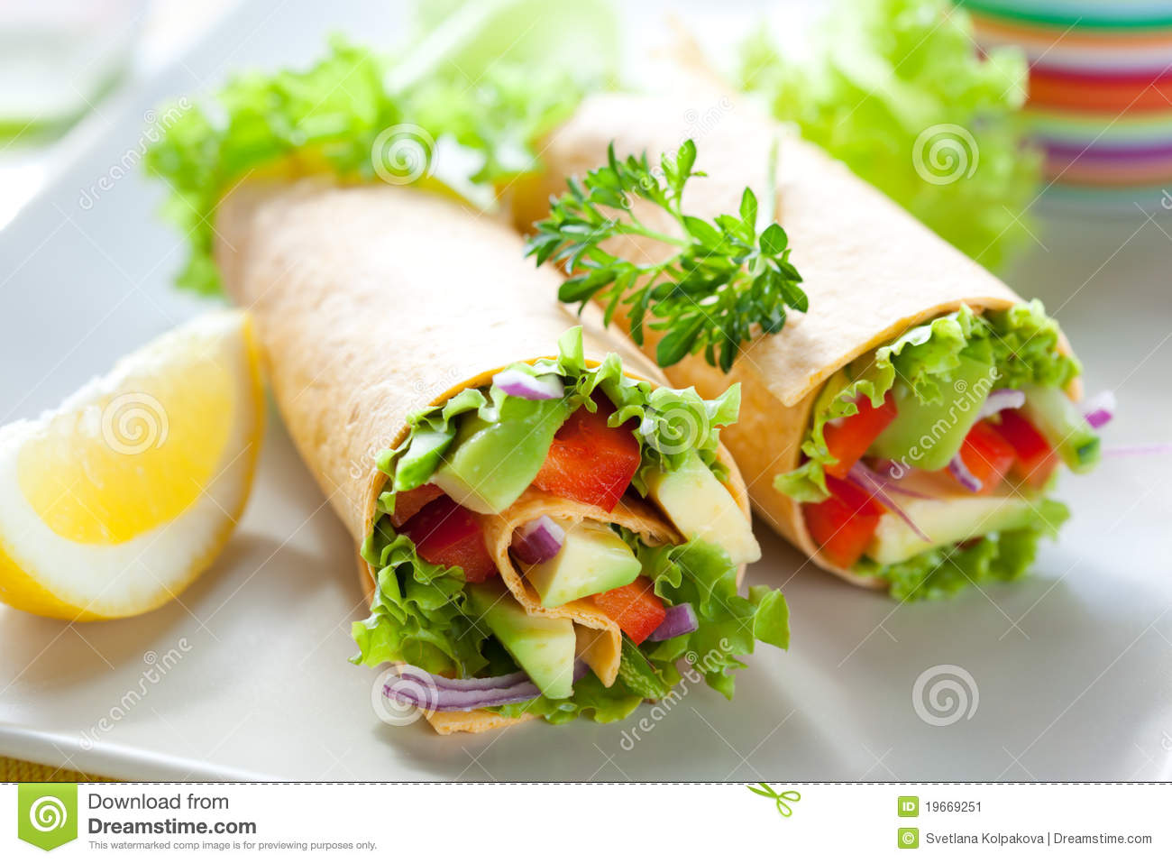 Tortilla wraps stock image. Image of mexican, dinner ...