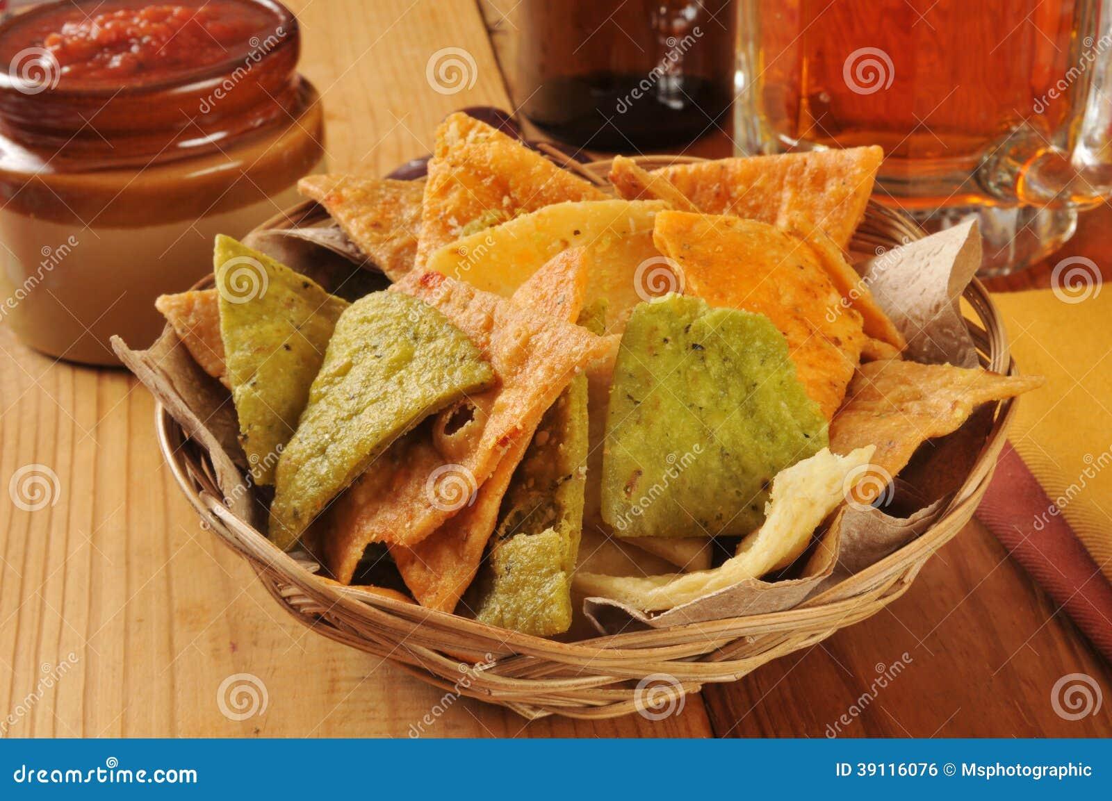 Tortillaspaanders en bier