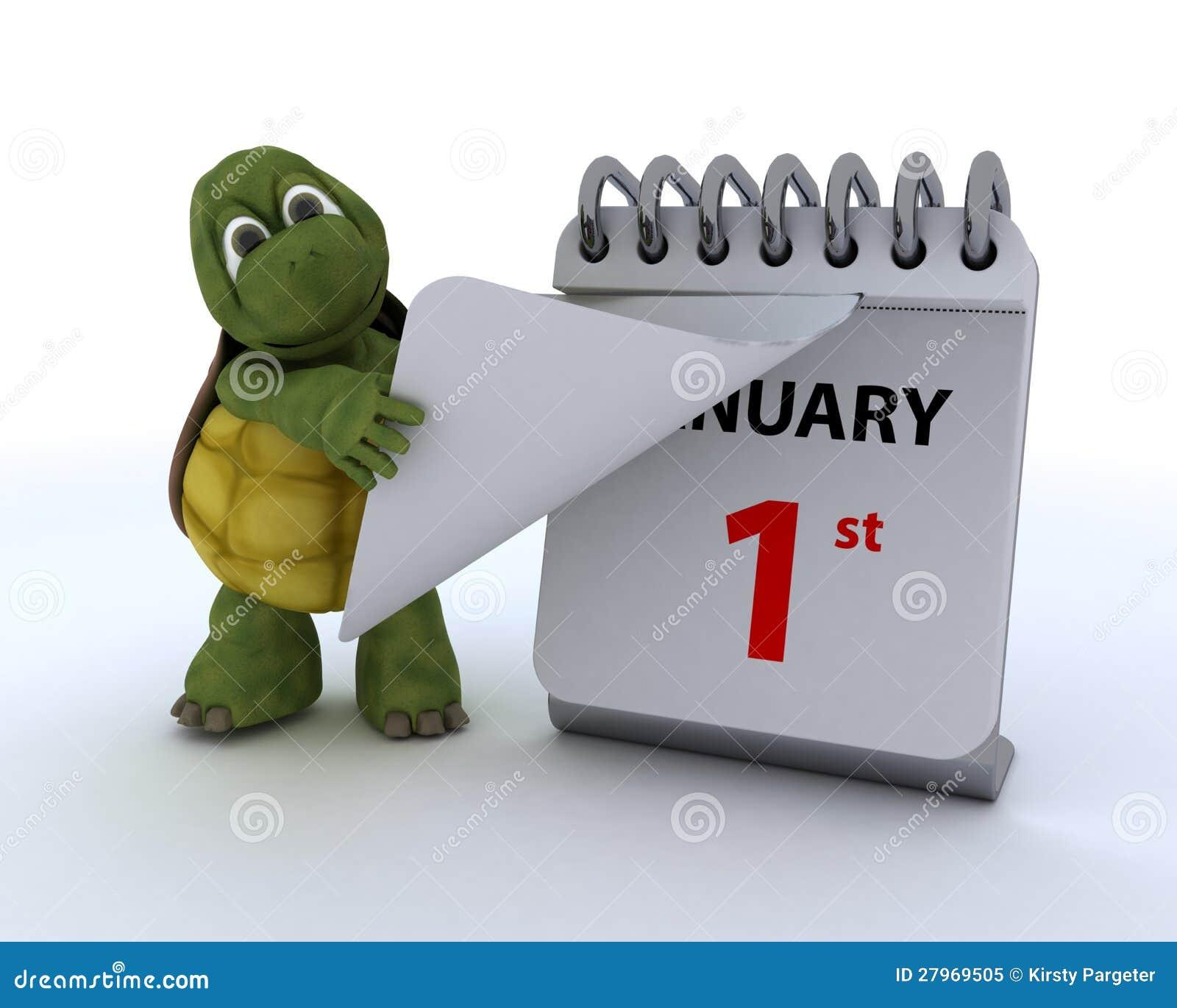 Tortoise με ένα ημερολόγιο