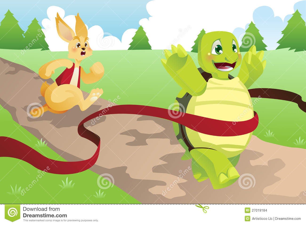 Hare Vs Tortoise Tortoise and hare Stock Images