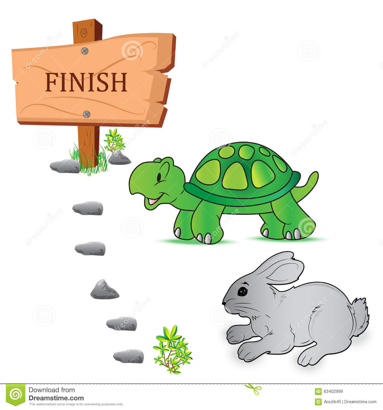 the tortoise and the hare a The hare believes that he's faster than the tortoise, and he's right in a flat out run, the hare will beat the tortoise every time but the hare makes a huge mistake, believing in his ability but then not actually proving it.