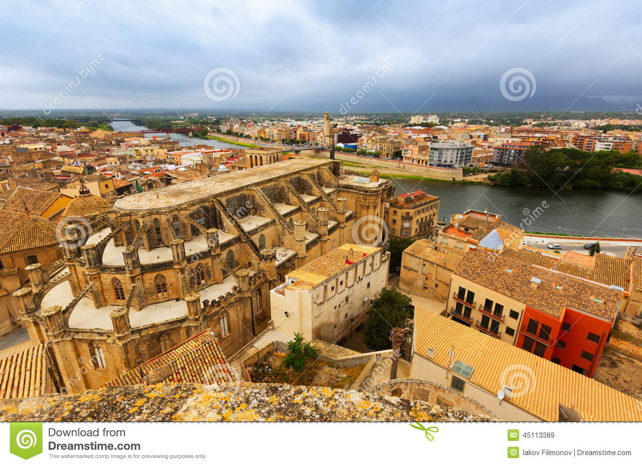 Tortosa Spain  city images : Tortosa From Suda Castle. Spain Stock Photo Image: 45113389