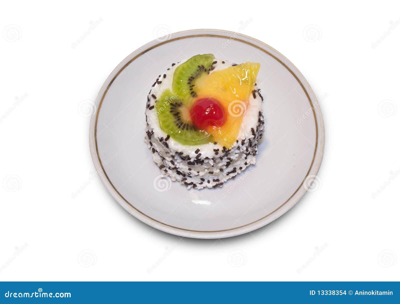 Tortowa owoc pokrajać spinkles wierzchołek