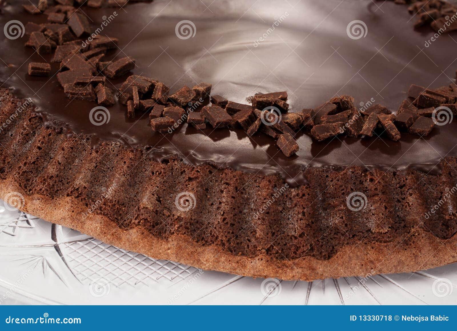 Tortowy czekoladowy szczegół