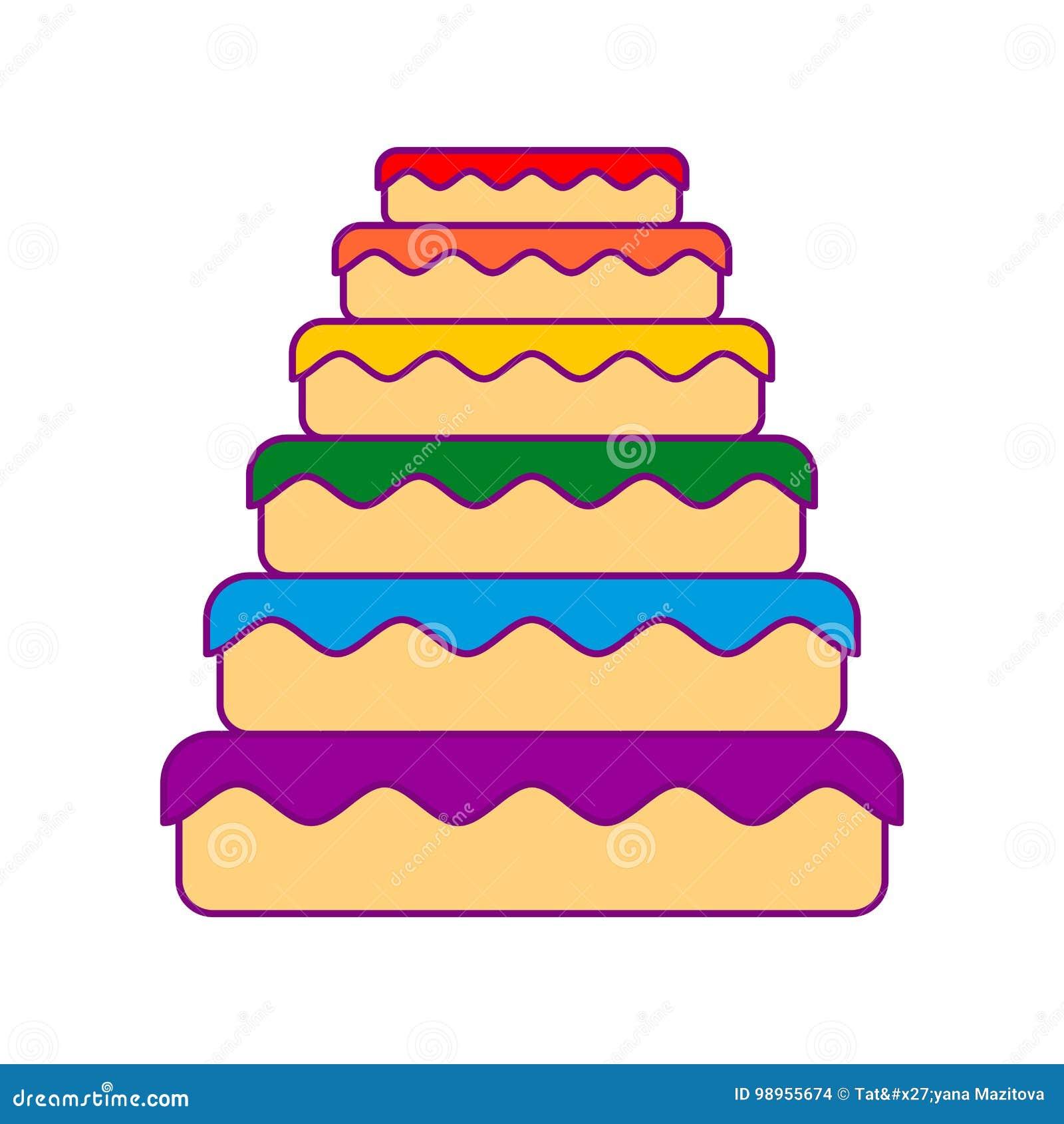 Tortowy LGBT Wielka pasztetowa kolor tęcza Karmowy homoseksualista Świąteczny mięso