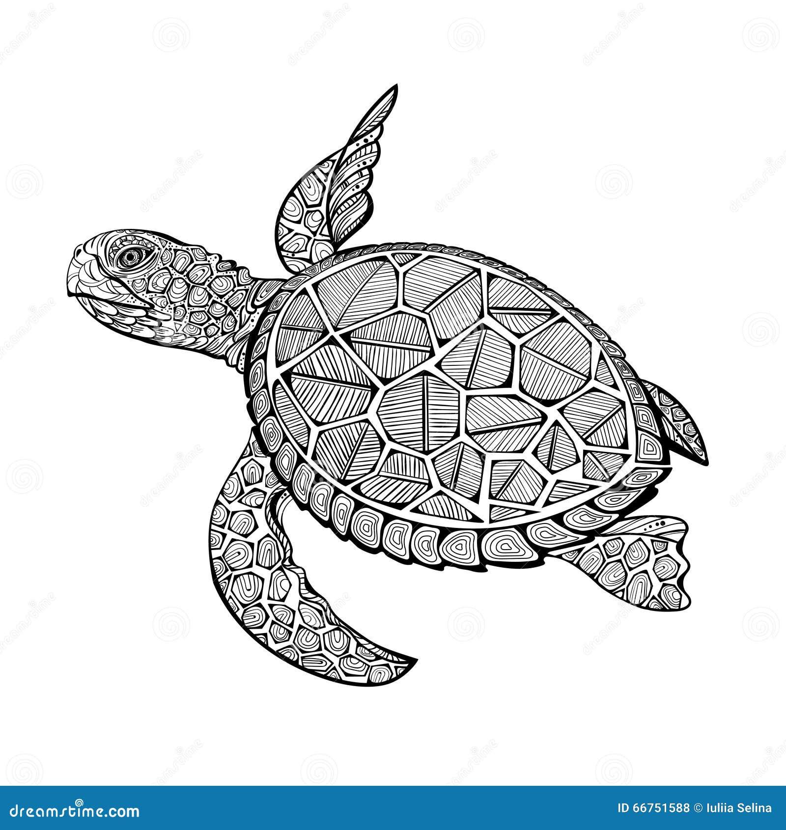 tortue de mer de tatoo illustration de vecteur image 66751588. Black Bedroom Furniture Sets. Home Design Ideas