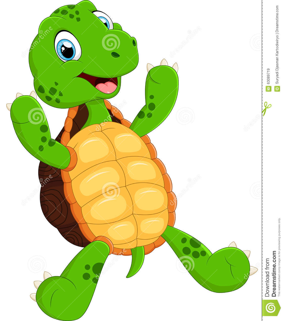 Download Tortue De Ondulation Verte Mignonne Illustration de Vecteur - Illustration du comique, regarder: 63089719