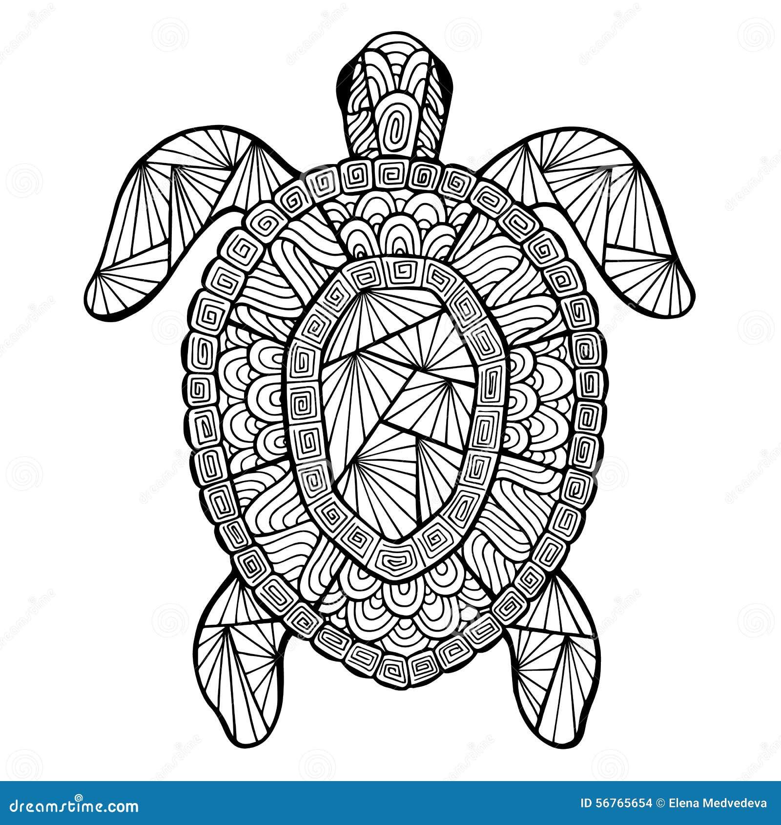Tortue Stylis 233 E De Vecteur Zentangle Illustration De