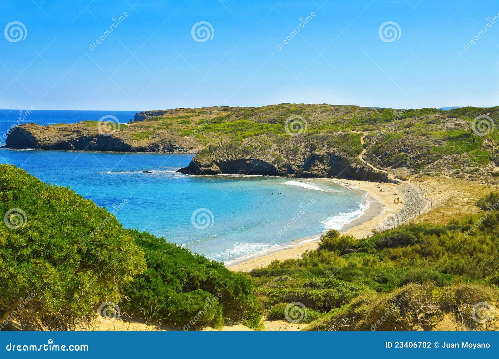 Tortuga beach in Menorca