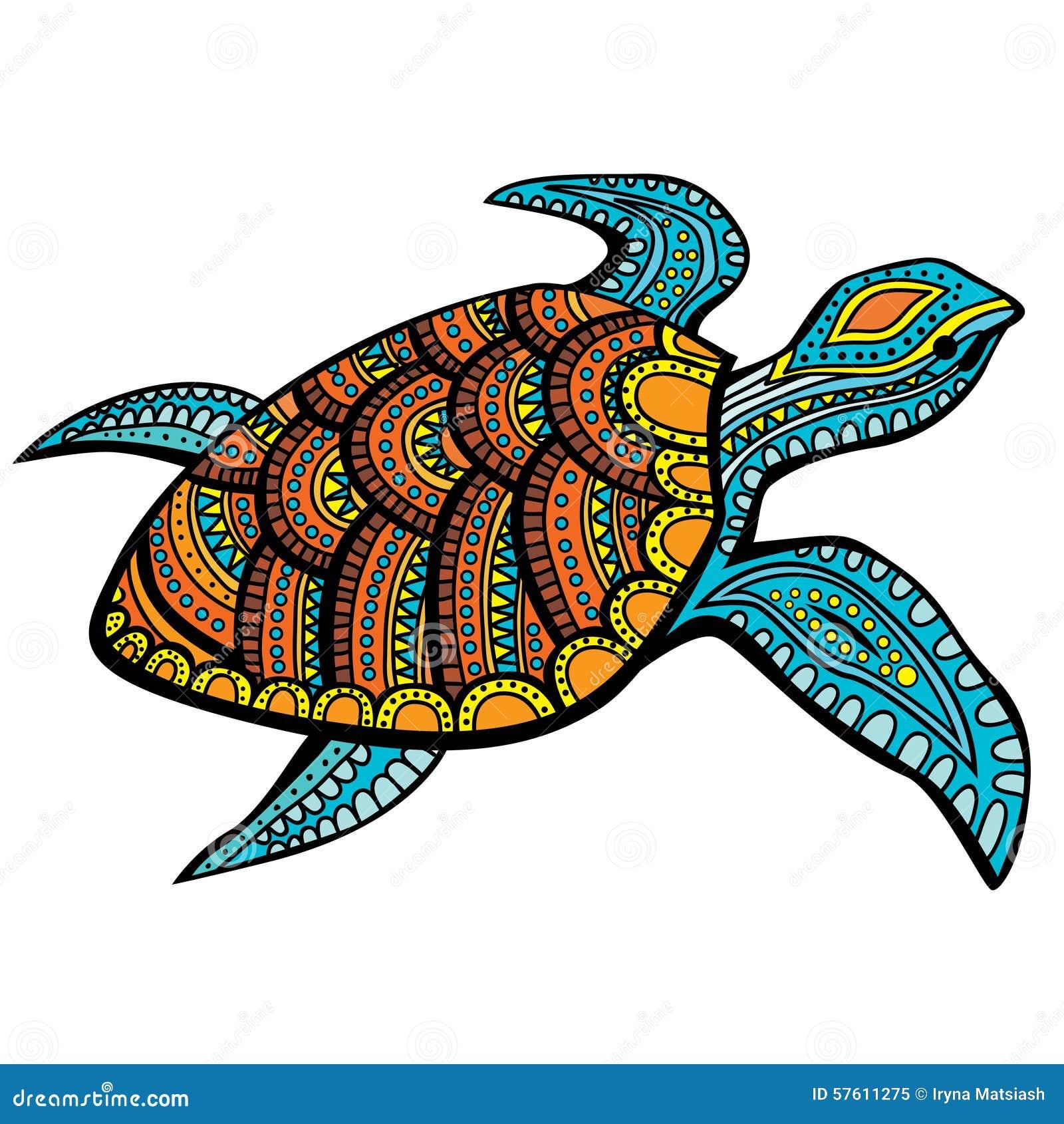 Tortuga Estilizada Ilustracion Del Vector