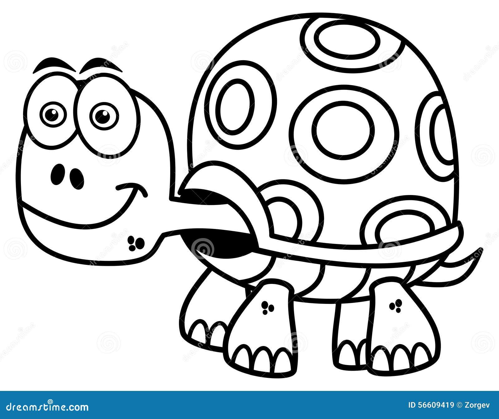 Tortuga Para Colorear Stock De Ilustración Ilustración De Blanco