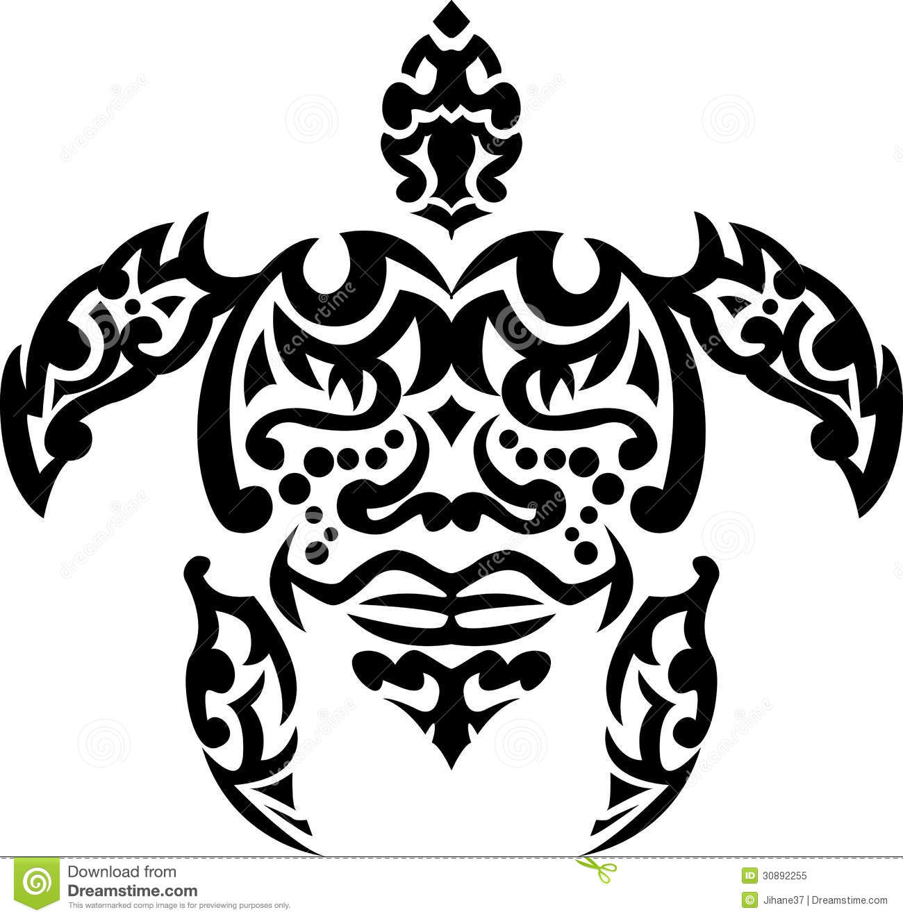Tortuga tribal del tatuaje for Tortuga maori
