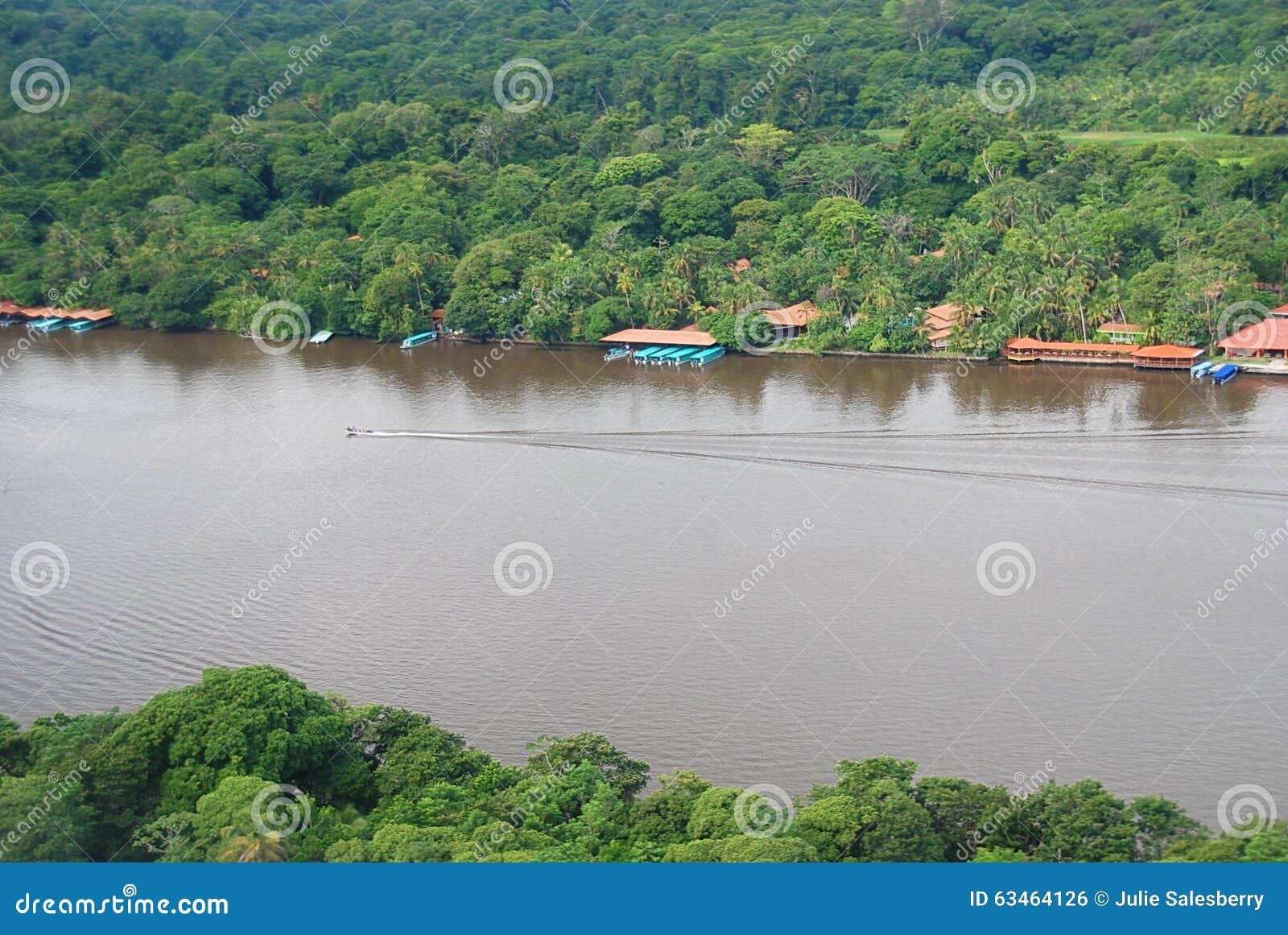 Tortuguero, Costa Rica Aerial View