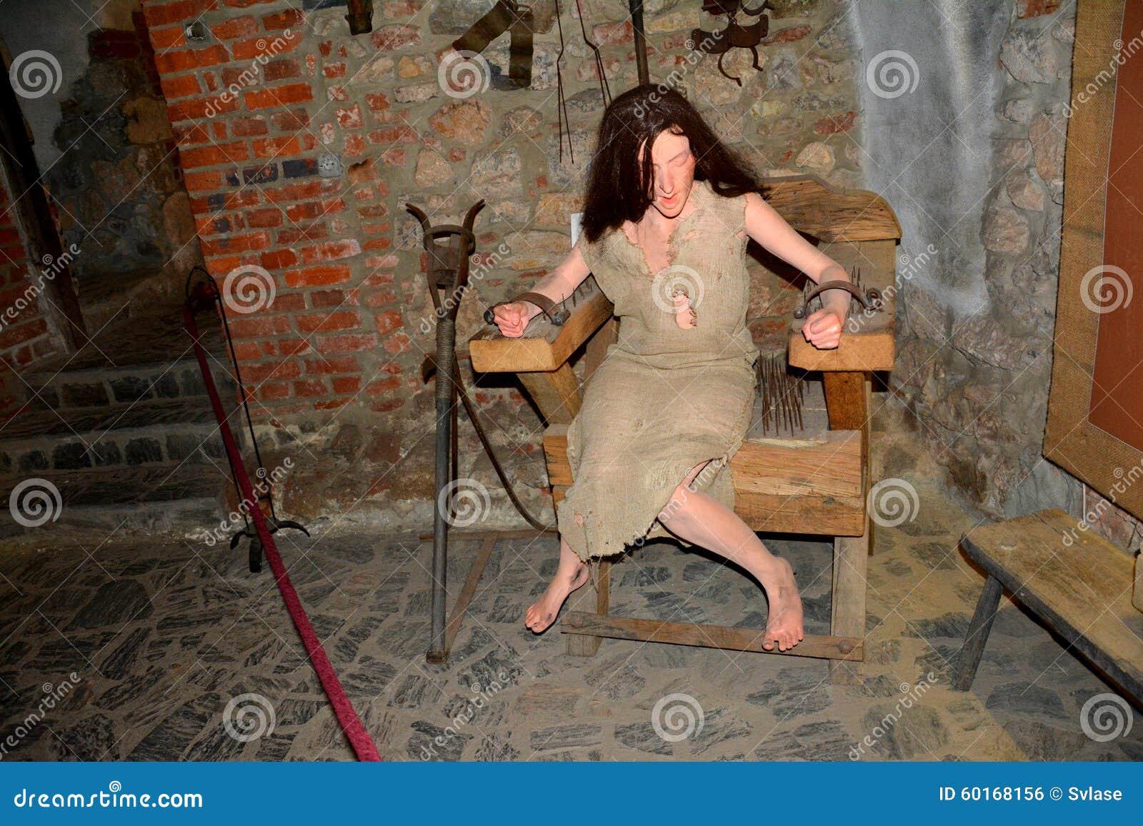 Tortyrkammare I Den Hunedoara Slotten Som Kallas Corvin