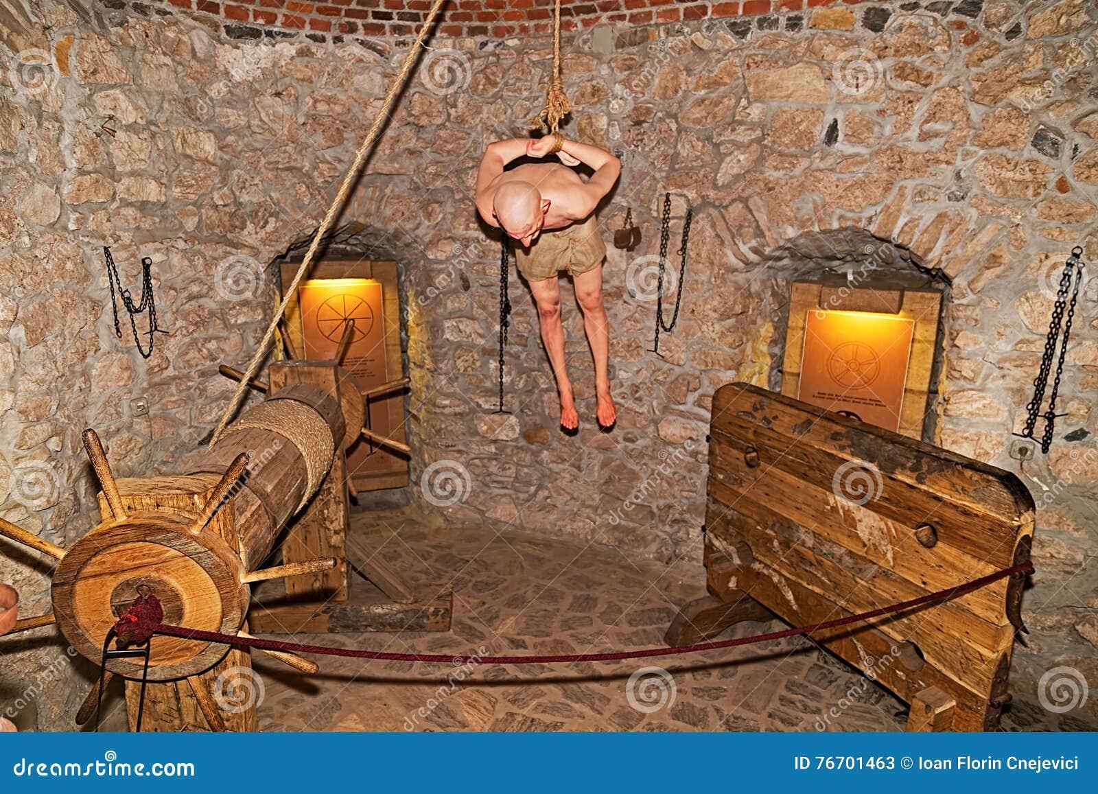 Tortyrkammare på den Corvin slotten, Hunedoara, Rumänien
