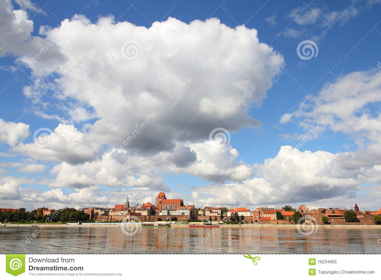 Download Torun stock image. Image of wisla, poland, reflection - 16234955