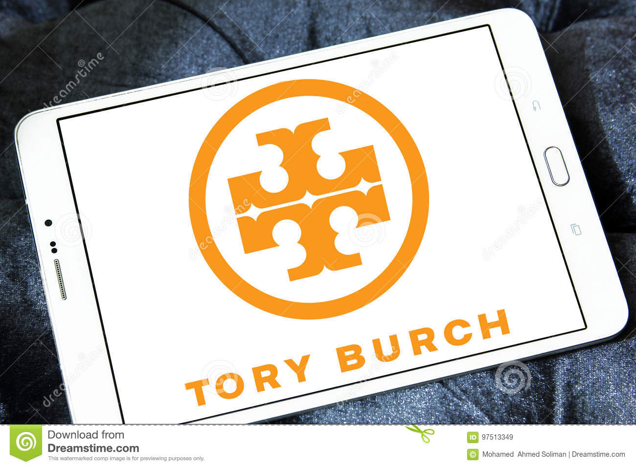 Tory burch logo editorial stock image image of cellphone 97513349 logo of fashion company tory burch on samsung tablet buycottarizona Images