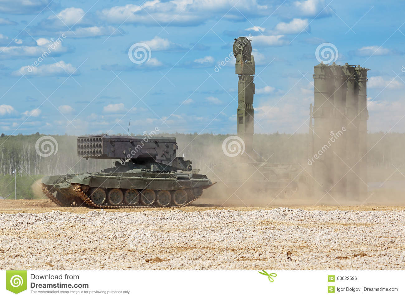 The TOS-1 and S-300 editorial photo. Image of multiple ...