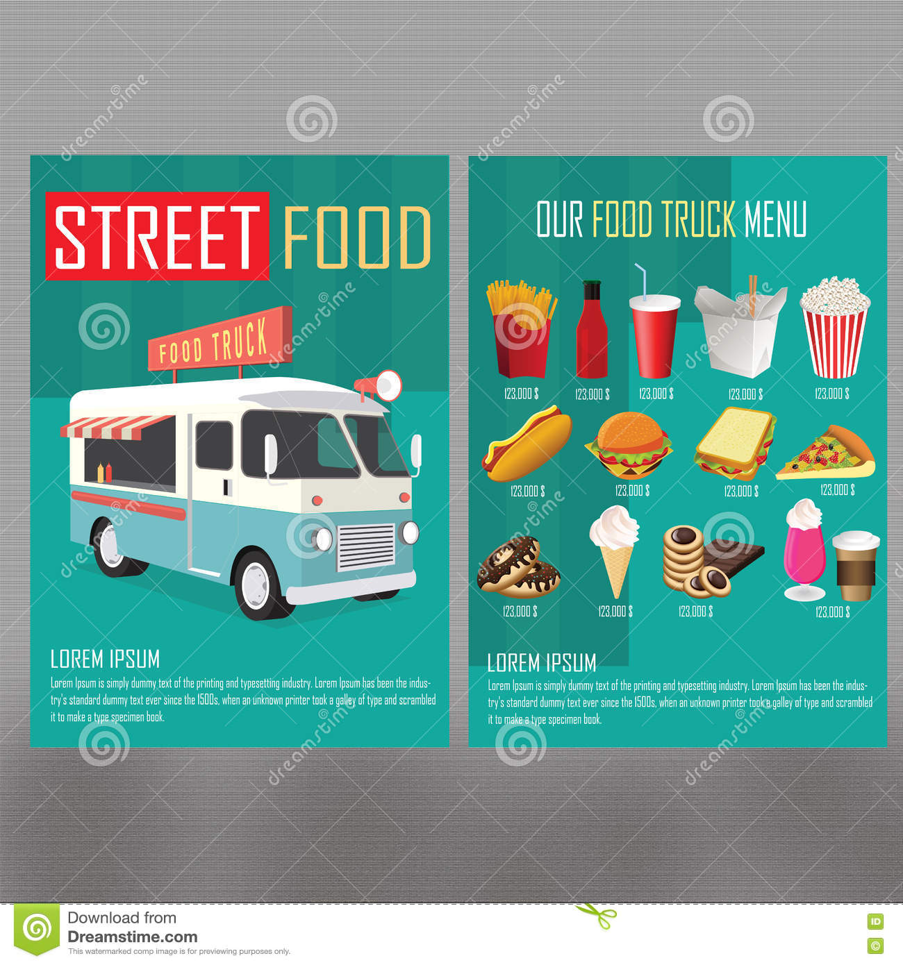 Tosca food truck menu stock illustration image of for Kitchen 88 food truck utah menu
