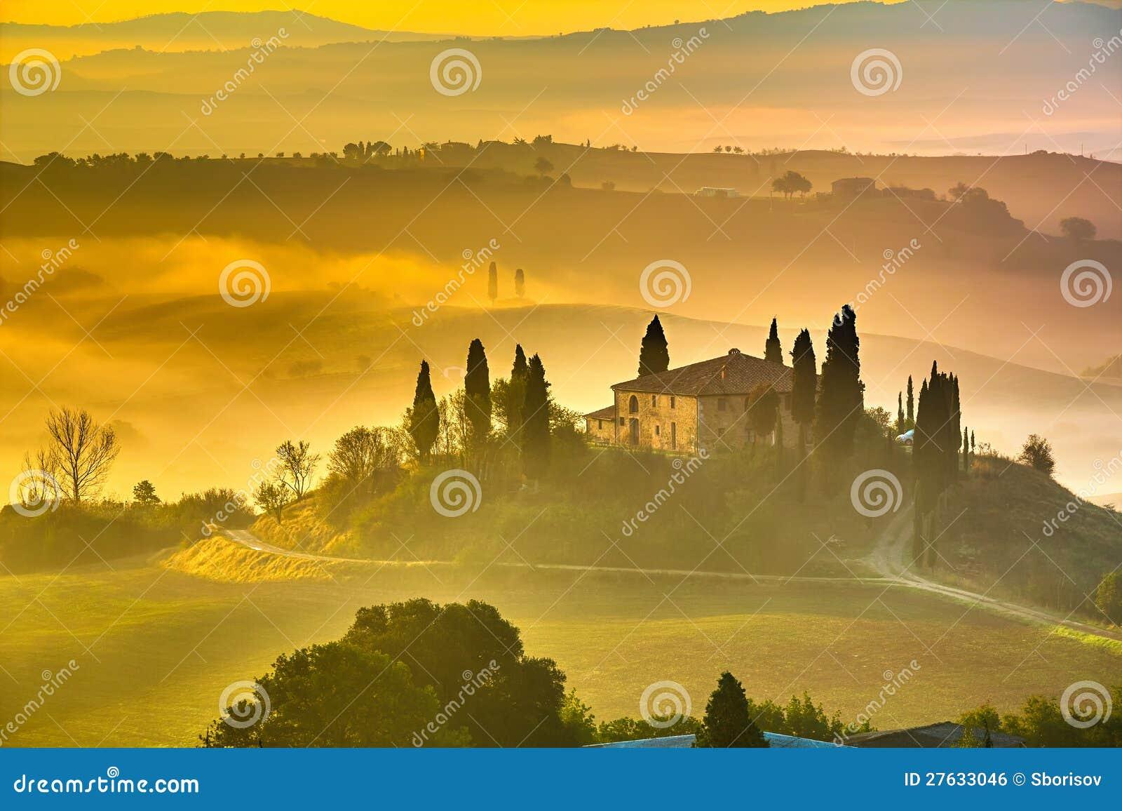 Toscana en la madrugada