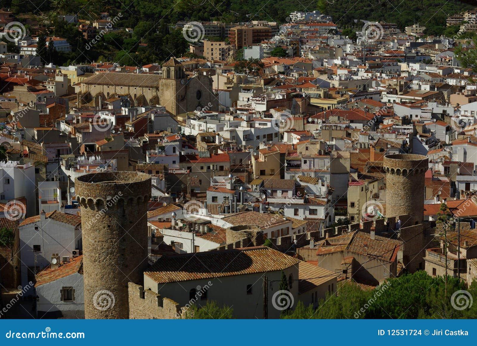 Tossa de mar Испании Косты города brava