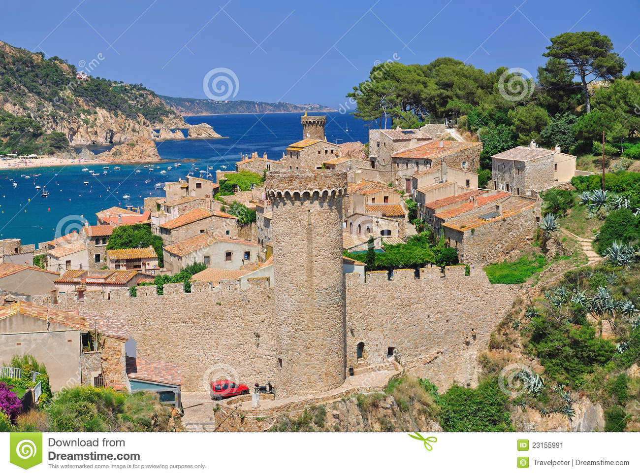 Tossa de Mar Spain  City pictures : ... well known village tossa de mar on the costa brava,catalonia,spain