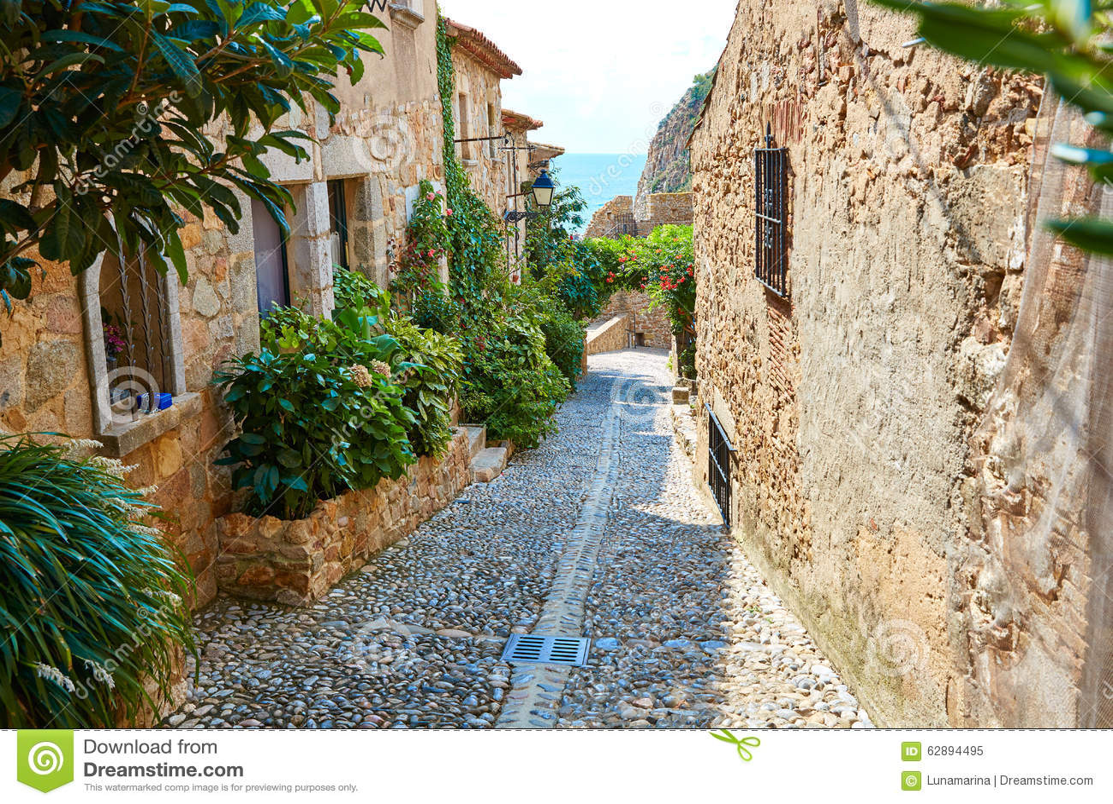 Tossa De Mar Old Town Vila Vella In Costa Brava Stock ...