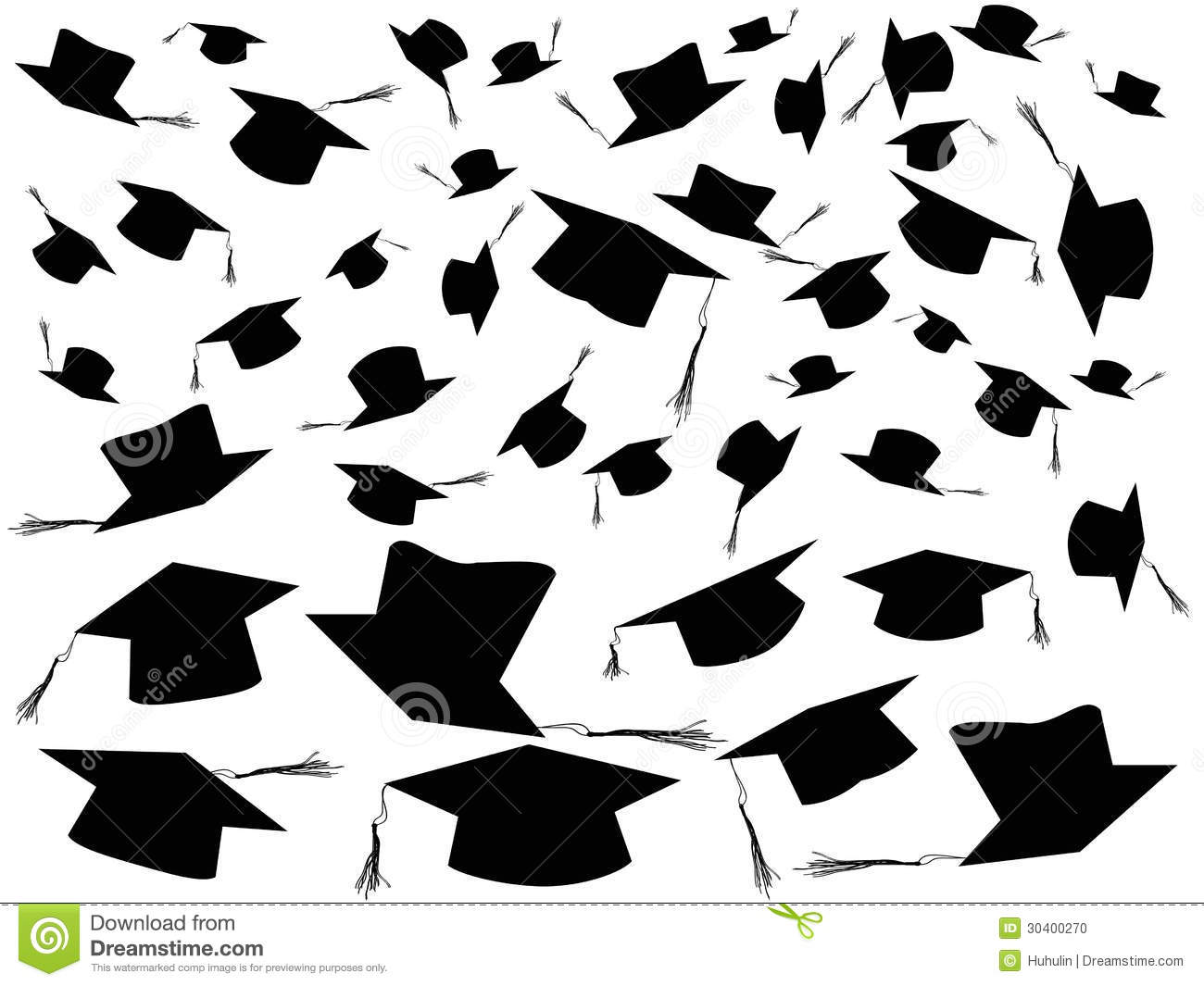 Tossing Graduation Caps Background Stock Photo - Image ...