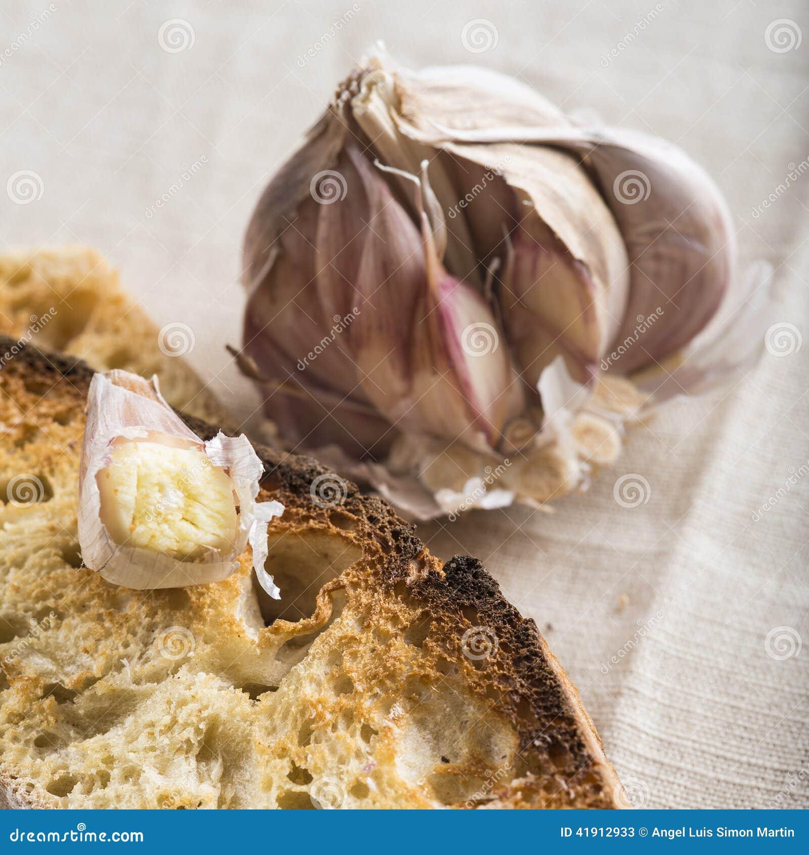 Tostadas del pan de ajo
