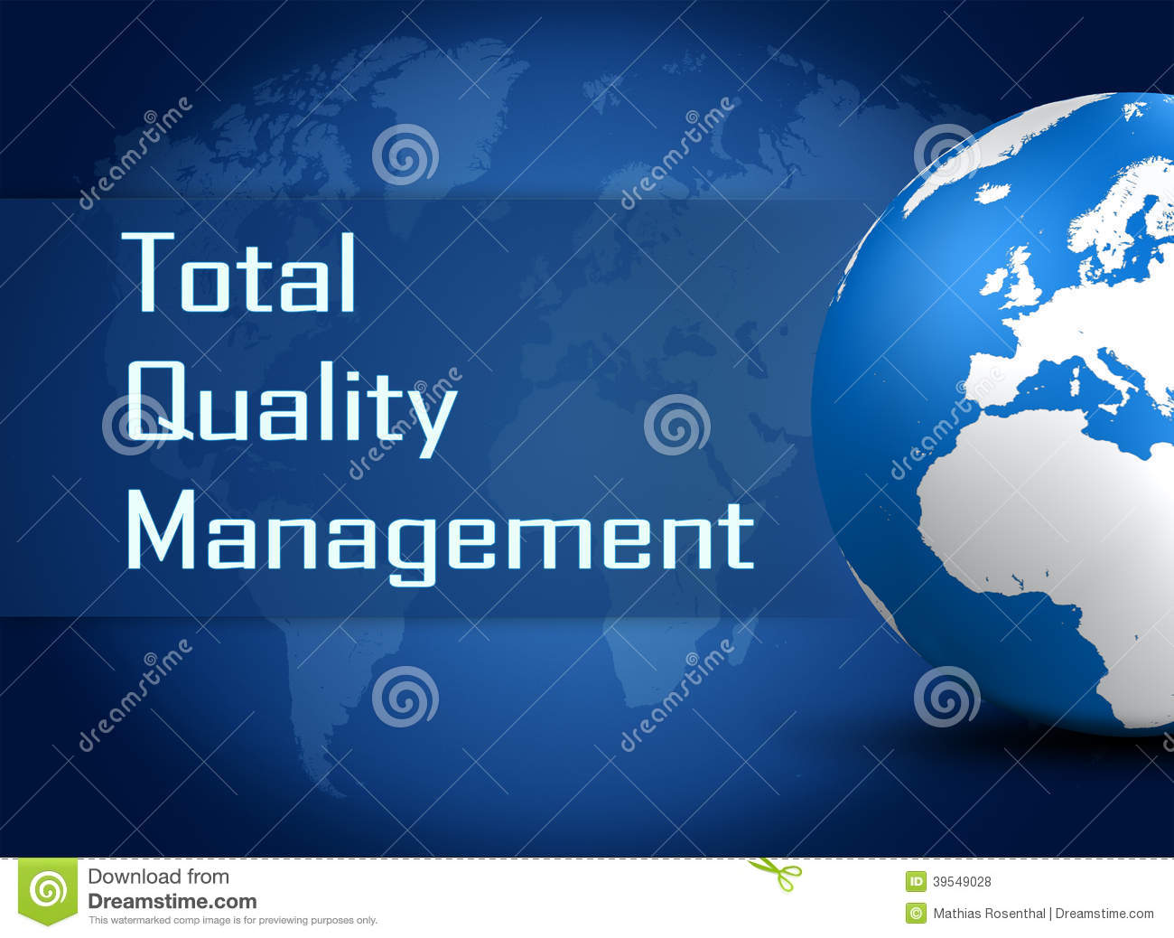 Background image quality - Total Quality Management Stock Illustration