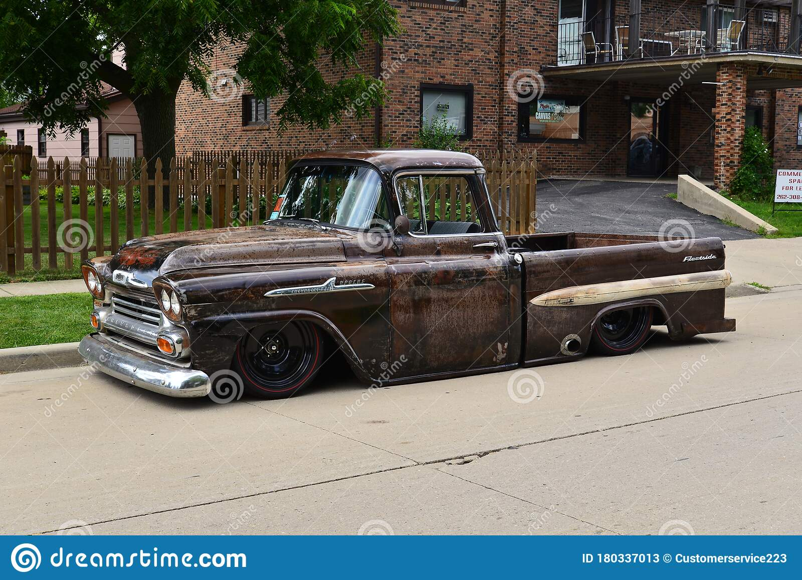 Totally Customized 1958 Chevy 3100 Apache Truck With Patina Editorial Stock Photo Image Of Custom Allowing 180337013