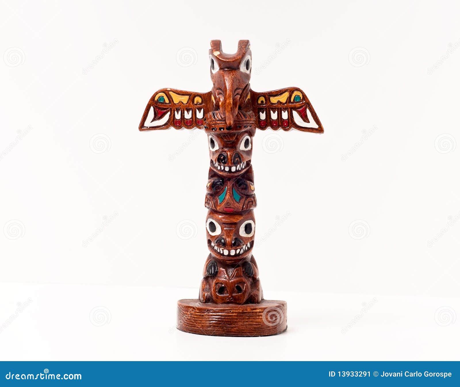 Totem palo indiano americano immagine stock immagine di - Totem palo modelli per bambini ...