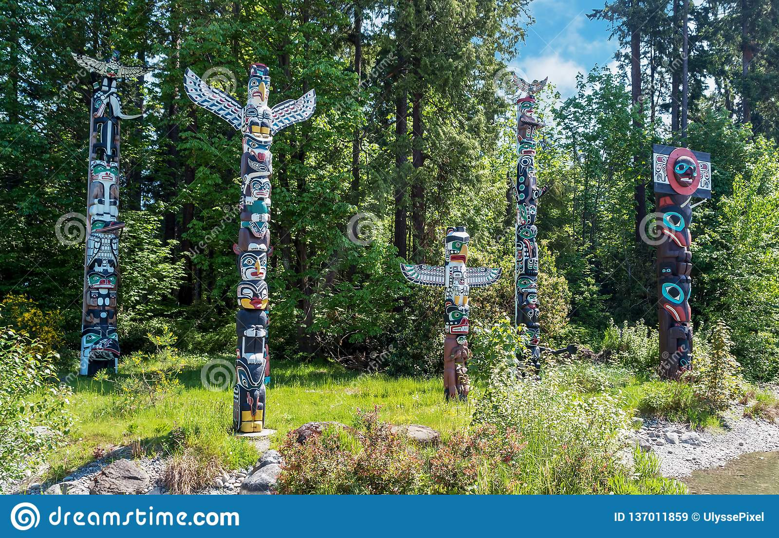 Totems in Stanley Park, Vancouver Canada
