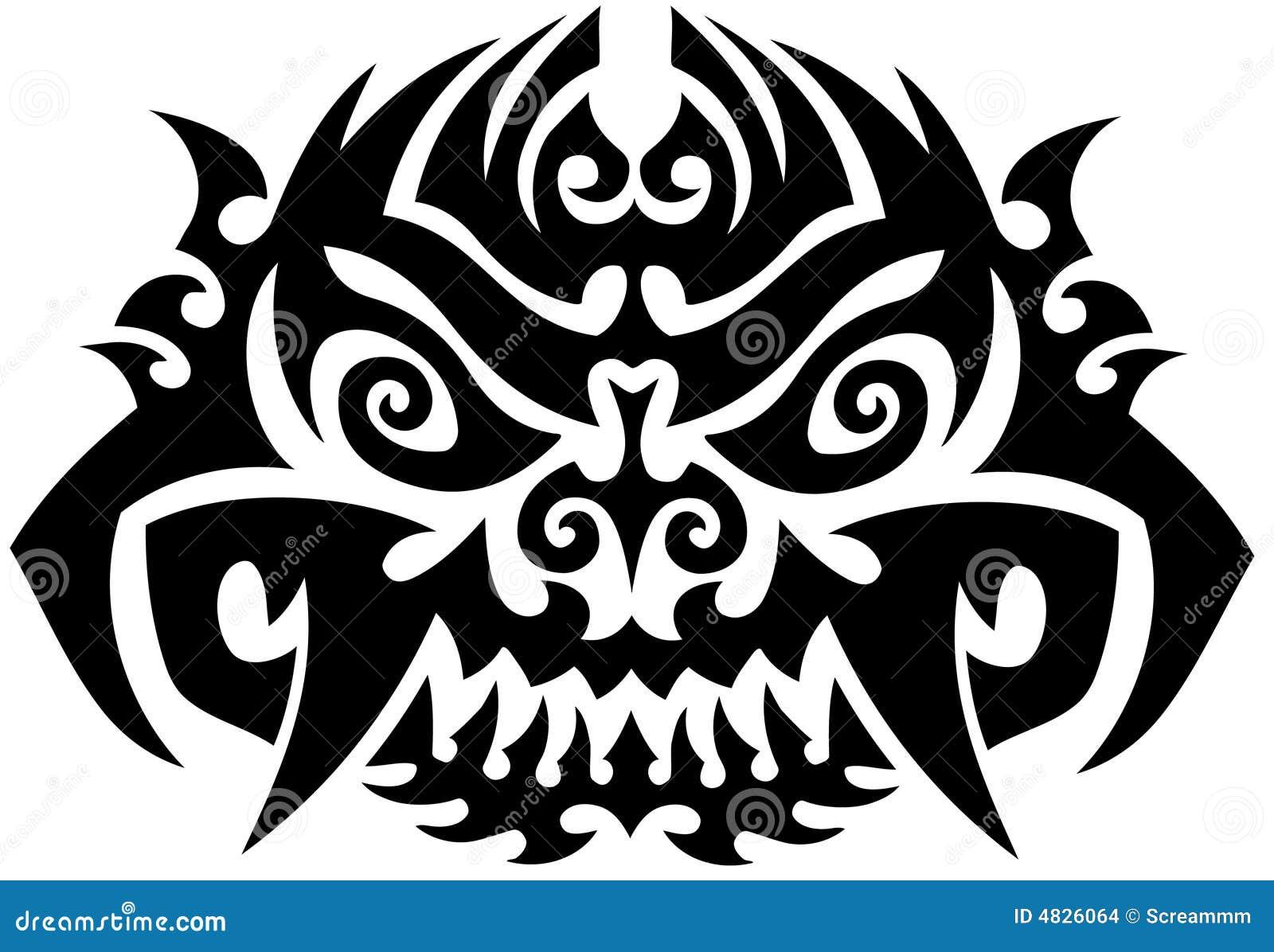 Totem-Tätowierung-Hintergrund