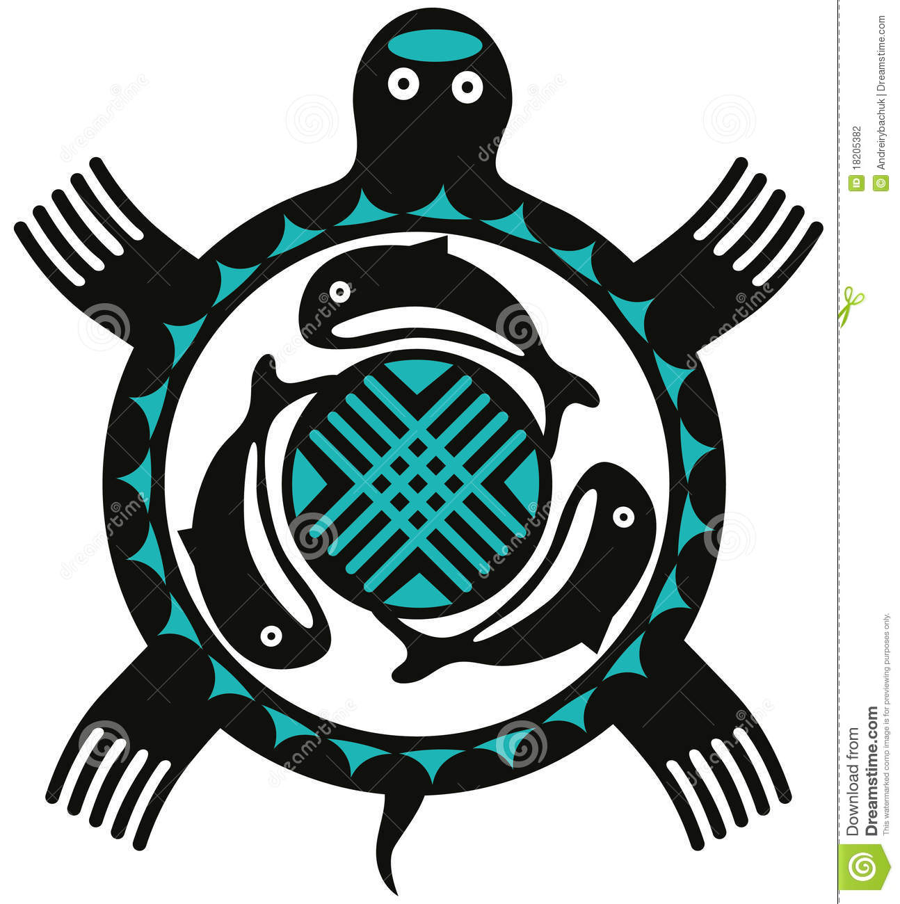 totem turtle stock photography image 18205382