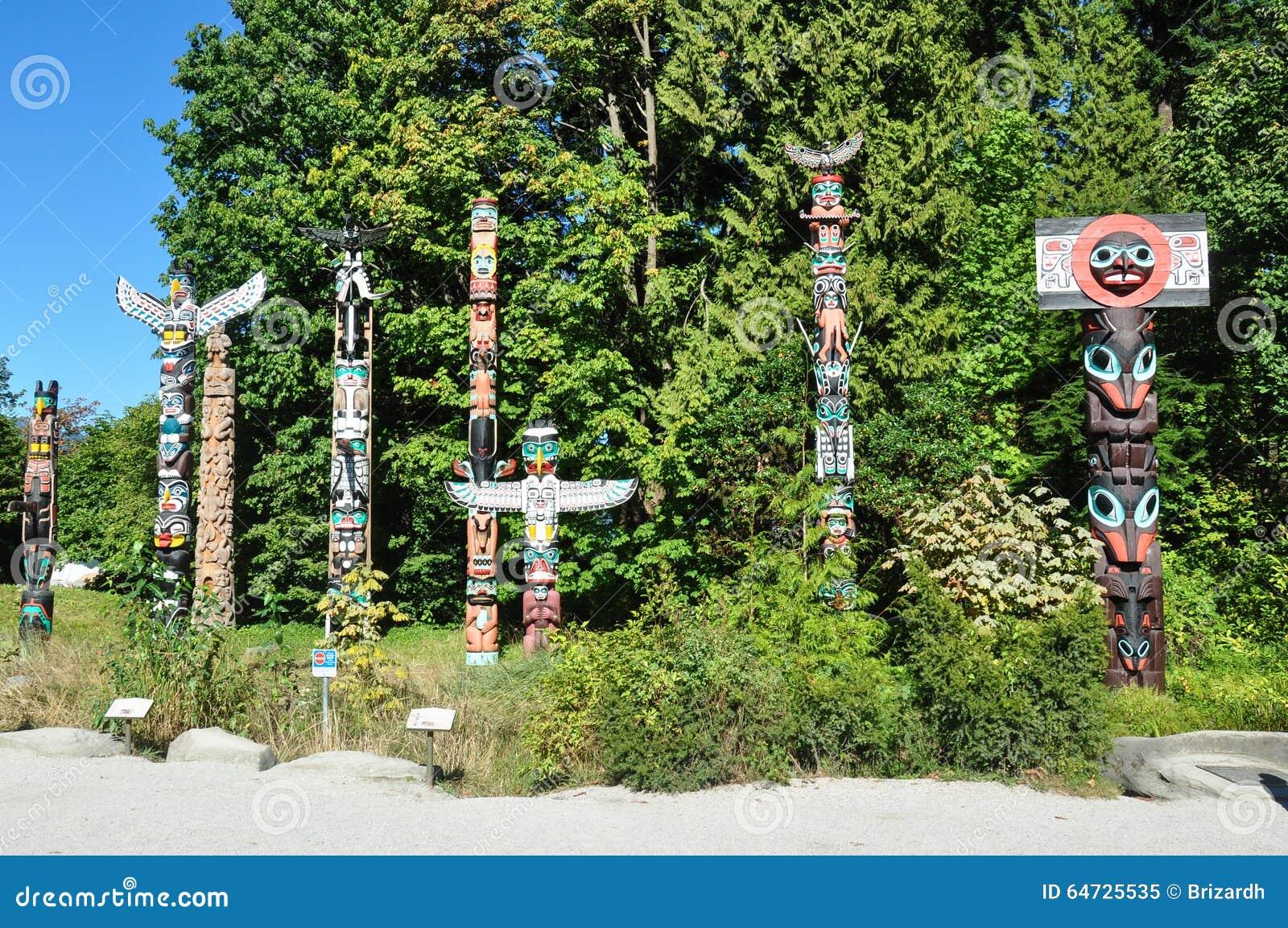 Totem a Vancouver Stanley Park, Columbia Britannica, Canada
