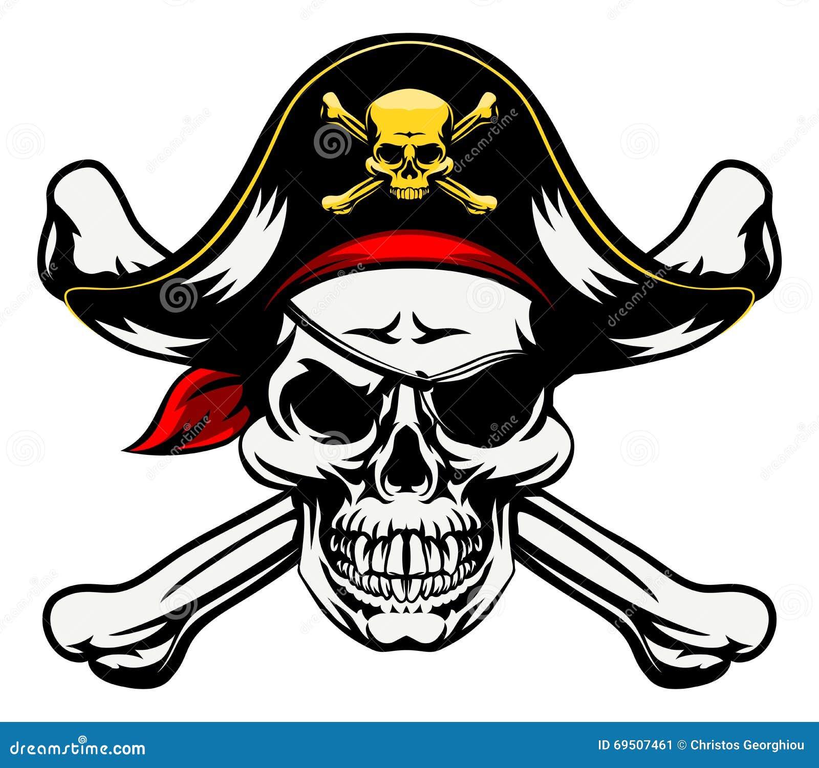 totenkopf mit gekreuzter knochen pirat vektor abbildung illustration von crossbones zeichnung. Black Bedroom Furniture Sets. Home Design Ideas