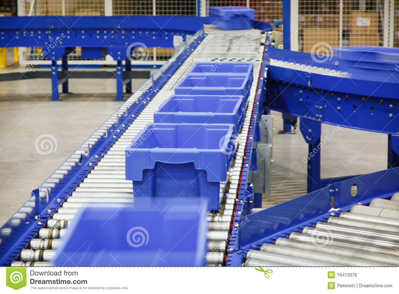 Totes On A Conveyor Belt Stock Photo Image Of Aisle