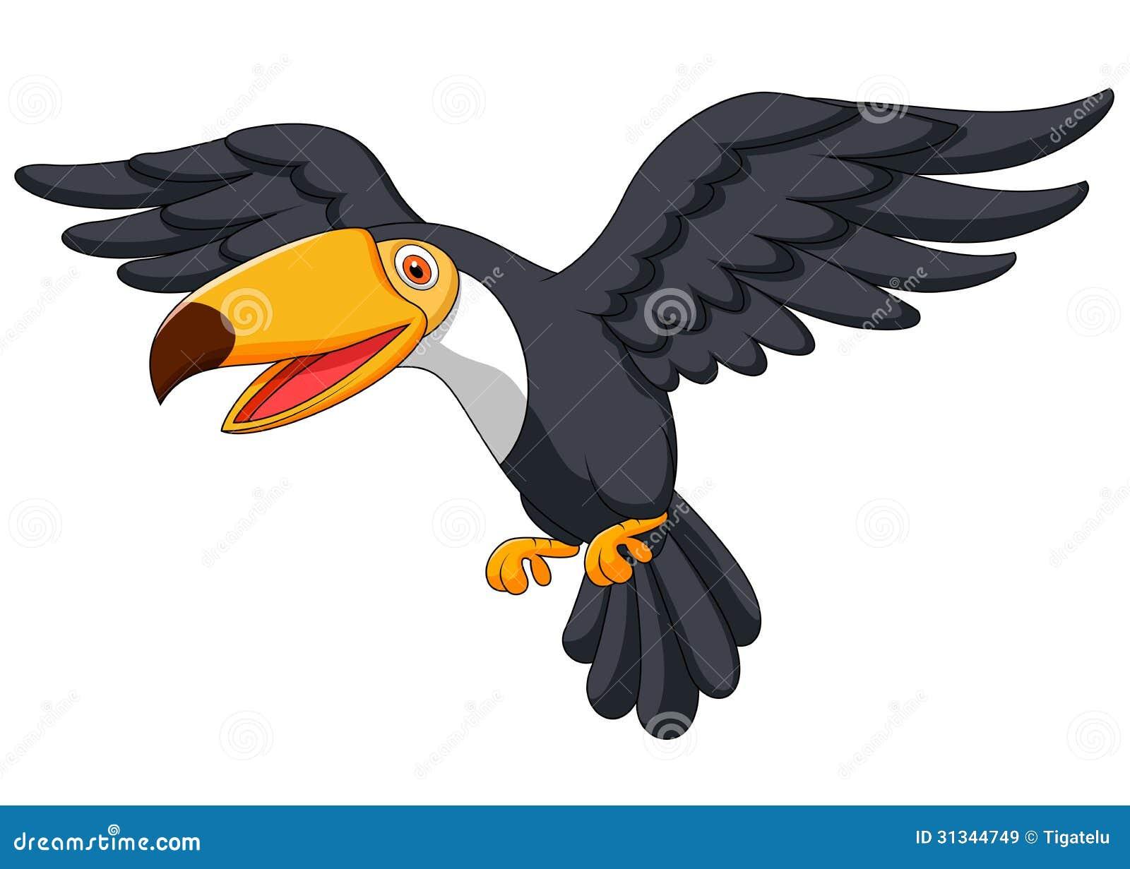 Toucan Bird Cartoon Flying Stock Vector. Image Of Animated