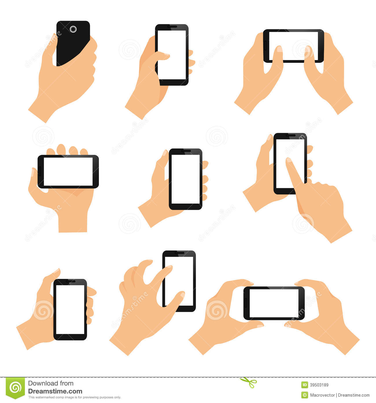 Touch screen hand gestures
