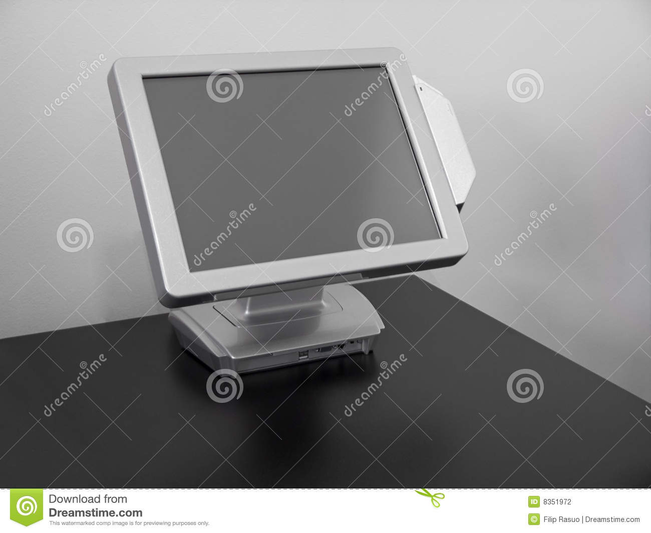 Touch-screen LCD vertoning