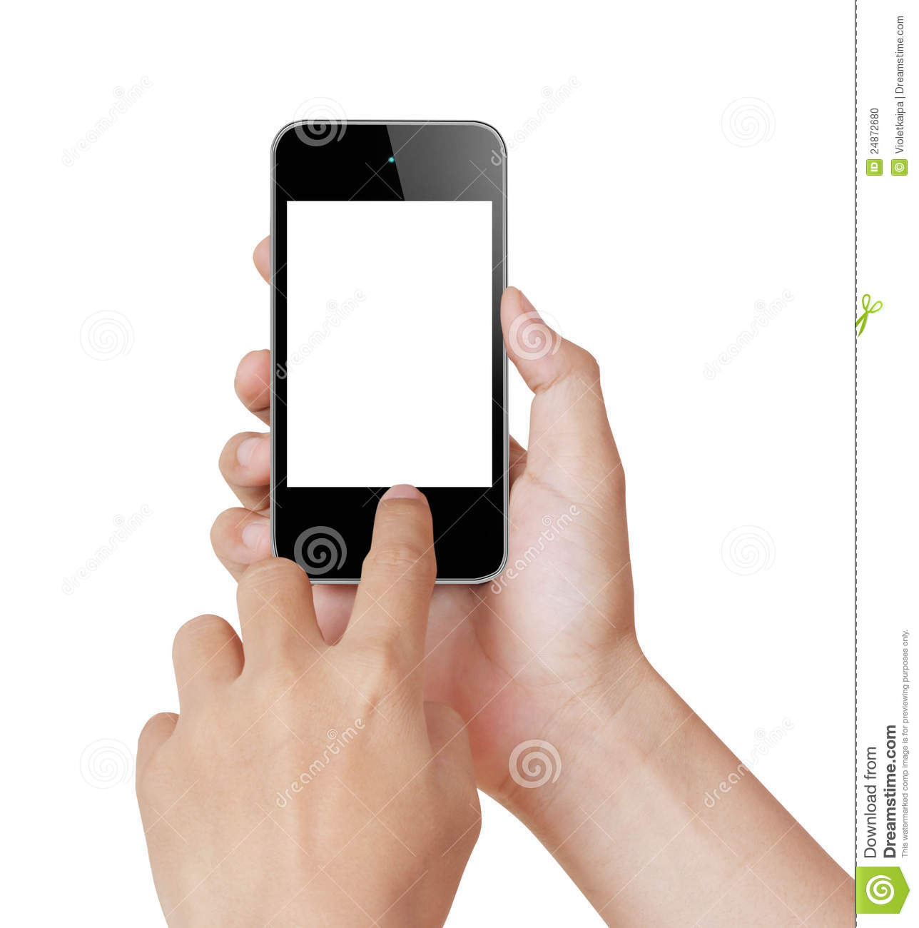 Touch screen mobile phone stock photo image 24872680 for Telephone portable a touches