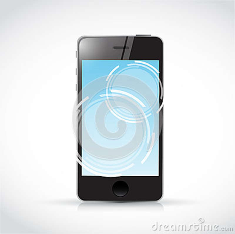 Touch screen phone and illustration design