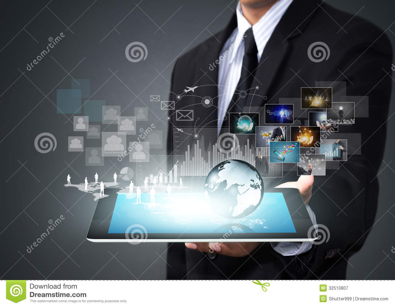 Touch Screen Tablet With New Technology Royalty Free Stock